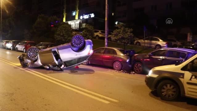 Takla atan cipin sürücüsü yaralandı