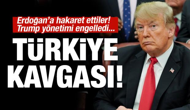 ABD'de Türkiye kavgası! Erdoğan'a hakaret ettiler