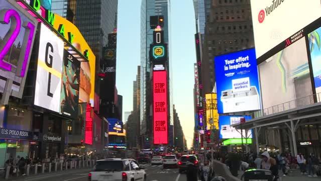 ABD'nin New York şehrinin ünlü meydanında