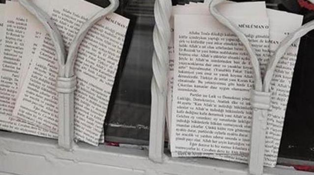 Ankara'da, şeriat çağrısı yapan provokatif bildirilerde 'Furkan Vakfı' iddiası
