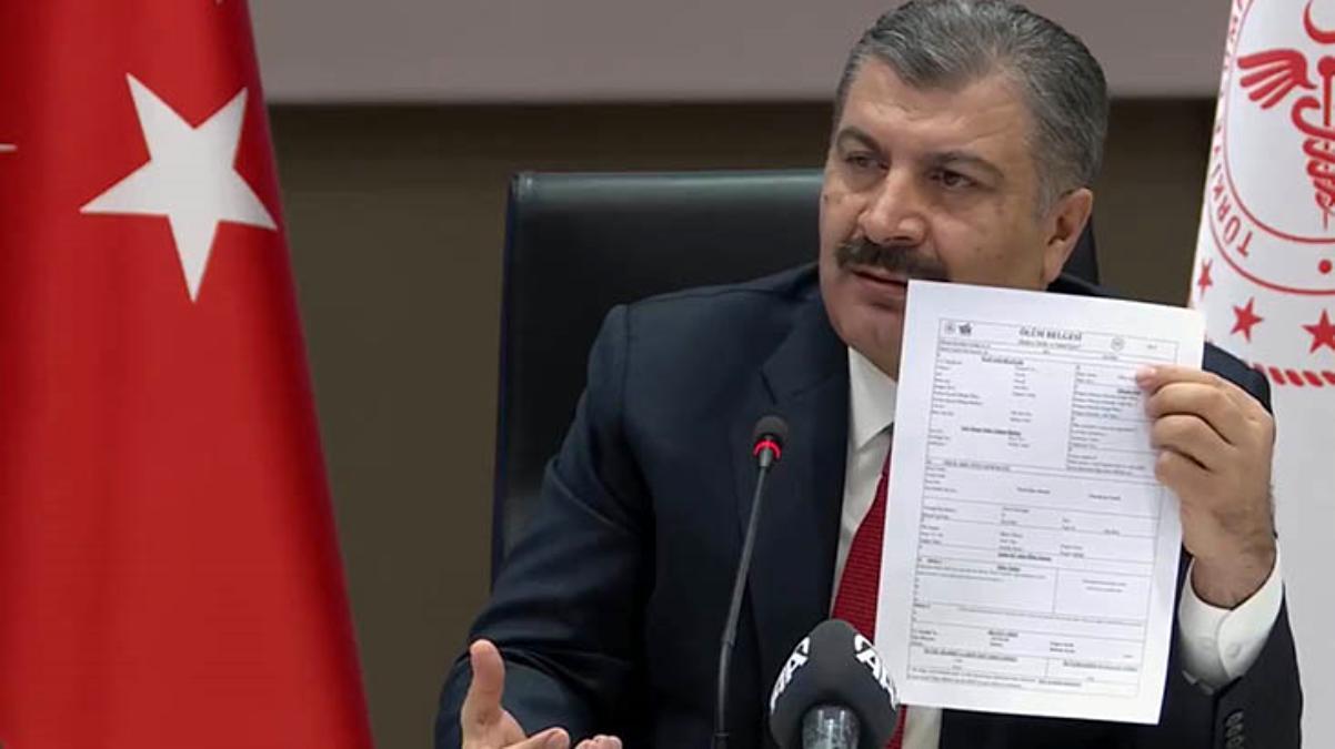 Bakan Koca, İmamoğlu'nun vefat iddiasıyla ilgili belge gösterdi tek tek yanıt verdi