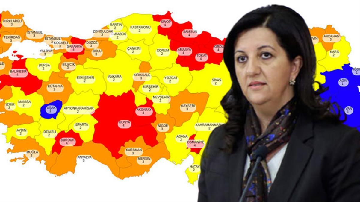 Bakan Koca'nın paylaştığı risk haritasına Pervin Buldan'dan esprili yorum: Adıyaman'ı kaybettik ama Uşak'ı aldık