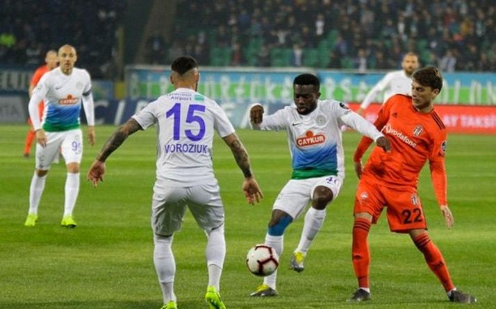Beşiktaş ile Çaykur Rizespor 37. randevuda