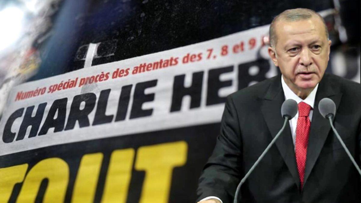 Charlie Hebdo'dan yine çirkin provokasyon! Erdoğan üzerinden Peygamberimizi ve İslam'ı hedef aldılar