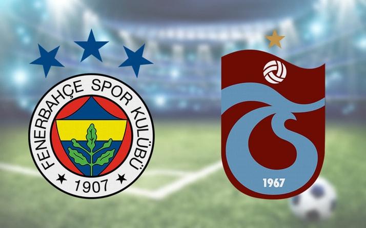 Fenerbahçe Trabzonspor maçı CANLI YAYIN