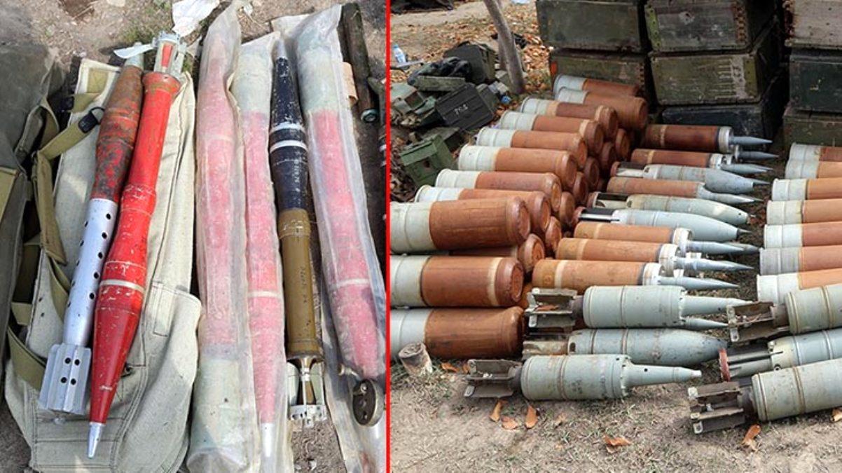 Görüntüler, Azerbaycan ordusunun işgalden kurtardığı Fuzuli bölgesinden! Tüm cephaneliği bırakıp kaçtılar