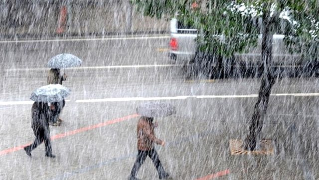 Meteoroloji'den 6 il için sağanak ve gök gürültülü sağanak yağış uyarısı