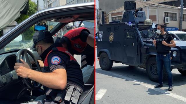 Okmeydanı'nda giriş çıkışlar kapatıldı! Özel harekat polislerinin de katıldığı denetim gerçekleştirildi