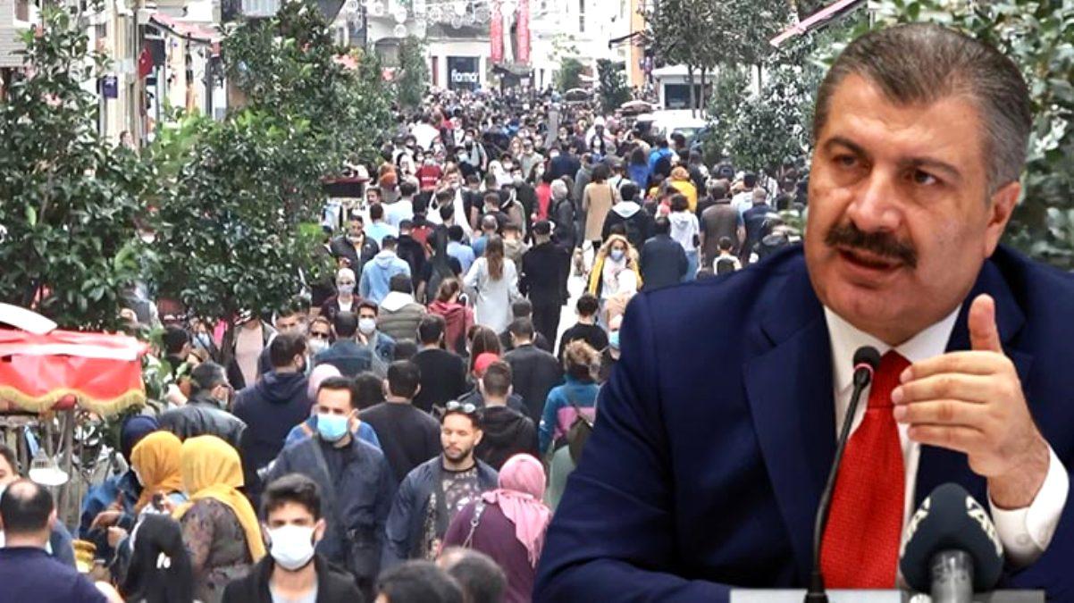 Sağlık Bakanı Koca, Taksim'deki insan seline isyan etti: Bu kalabalığa giren hasta çıkar