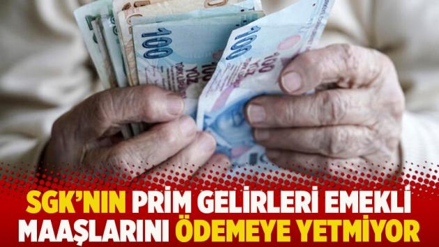 SGK'nın prim gelirleri emekli maaşlarını ödemeye yetmiyor