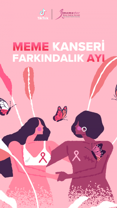 TikTok, Meme Kanseri Farkındalık Ayı için MEMEDER ile pespembe!