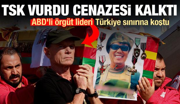 TSK vurdu, cenazesi kalktı! ABD'li örgüt lideri Türkiye sınırına koştu