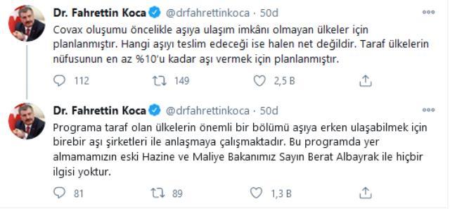 Türkiye, Berat Albayrak yüzünden mi aşı alamadı? Bakan Koca iddialara yanıt verdi