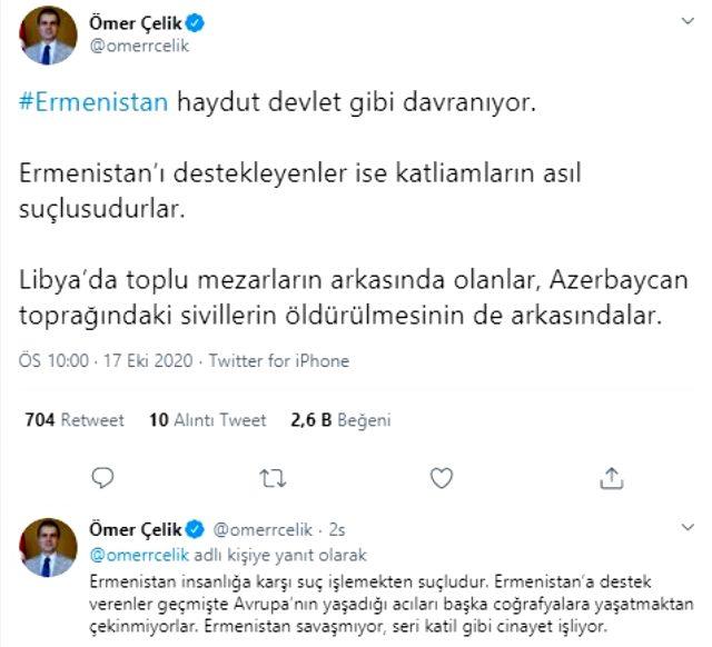 Türkiye'den Azerbaycan'a Ermenistan'a sert tepki: Seri katil gibi cinayet işliyor