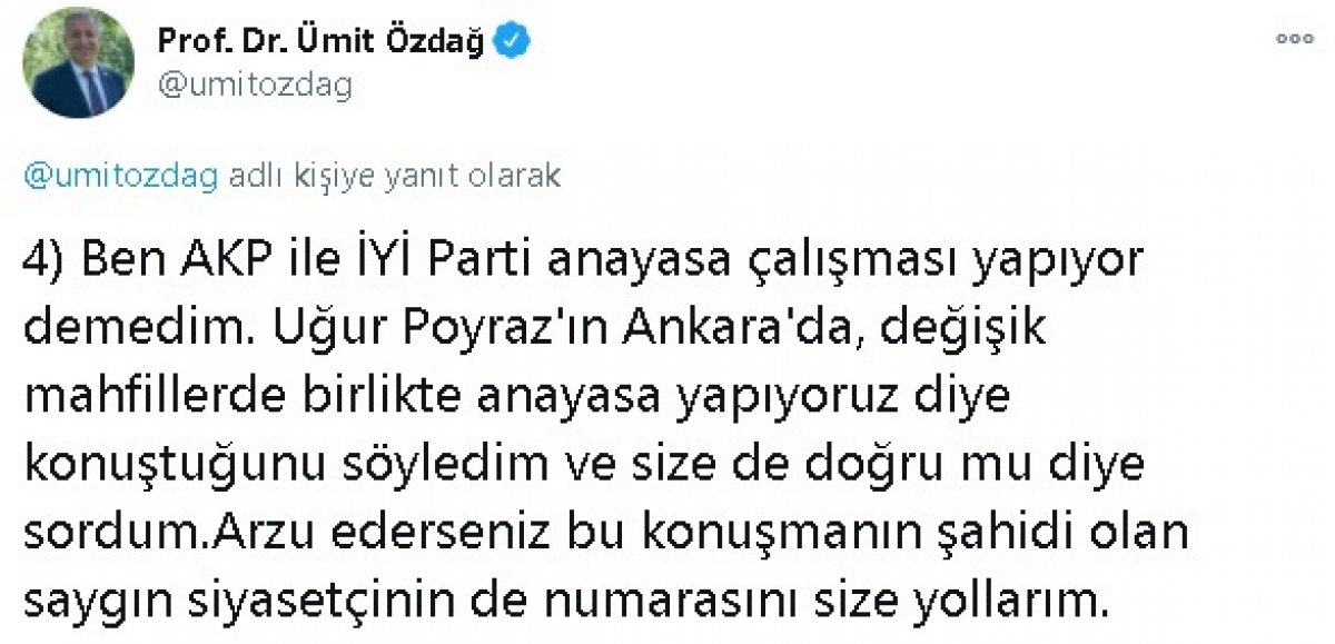 Ümit Özdağ dan Meral Akşener e: 4 gerçek dışı açıklama #4