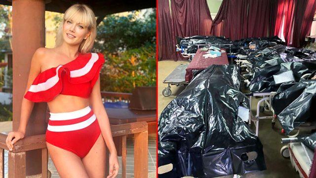 Ünlü Rus model, morga girip koronavirüsten ölenlerin fotoğraflarını paylaştı