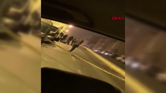 Üsküdar'da motosiklet sürücüsünün öldüğü kaza güvenlik kamerasında