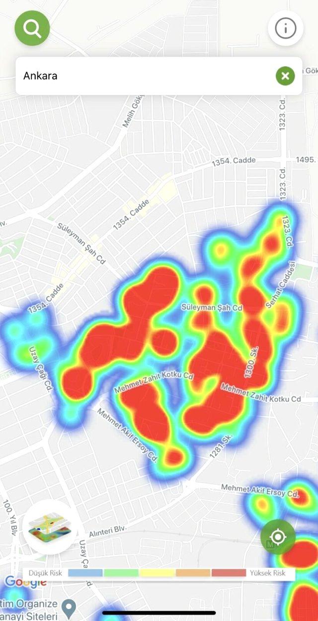 Vaka sayısında başı çekiyor! İşte Ankara'nın korkutan koronavirüs yoğunluk haritası