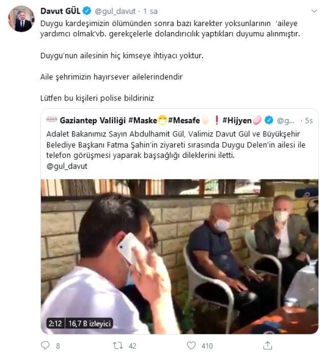 Vali'yi çıldıran vicdansızlık! Vatandaşlar, Duygu Delen'in ailesine yardım bahanesiyle dolandırılmaya çalışıldı